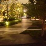 夜の都心住宅の画像